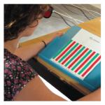 Visualtraining mit rot-grün Unterschied